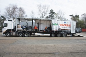Our new trailer loaded with machinery for delivery.