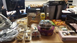 Some of the snacks for staff to eat