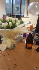 Flowers and Prosecco!