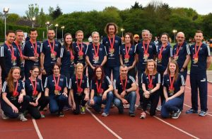 Siân and her fellow Jaffa team mates posing with their medals
