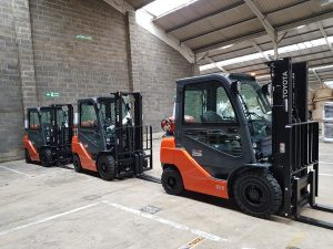 Three new Toyota Forklift Truck at our Ipswich Depot