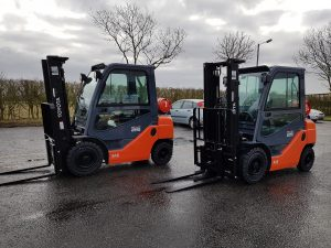 Two new Toyota Forklift Trucks at our Clopton Depot