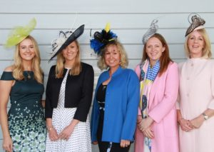 Suffolk show fashion (l-r) Katrina Morton, Alice Westrope, Bee Kemball, Bella Jolly, Angie Ashby-Hoare.